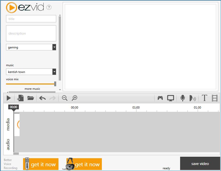 Интерфейс Ezvid 1